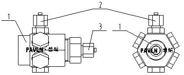 单向探火管接头(直接式)