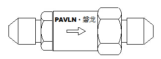 IG541气体龙8国际电脑版单向阀(驱动气体管路)