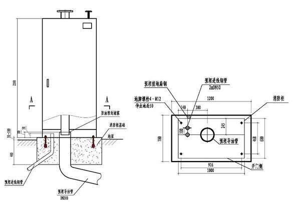 消防柜基础图