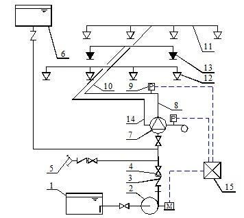 4-闸阀5-水泵接合器6-消防