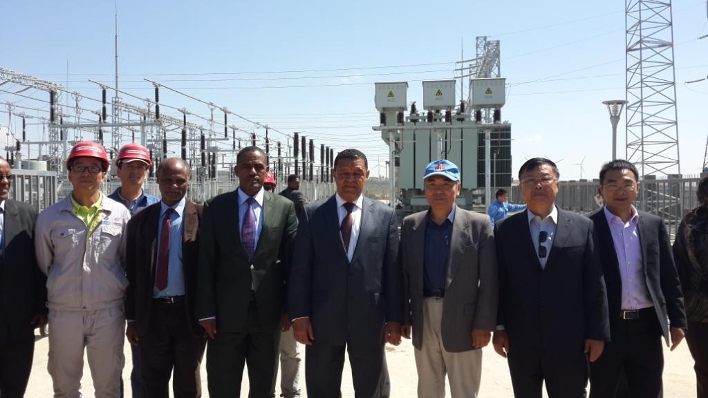 埃塞俄比亚总统穆拉图视察阿达玛风电二期项目